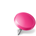 drawingpin, mapmarker, pink, right icon