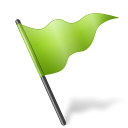 chartreuse, flag, mapmarker icon