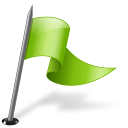 chartreuse, flag, mapmarker, right icon