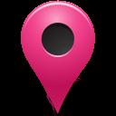mapmarker, marker, outside, pink