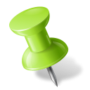 chartreuse, left, mapmarker, pushpin icon