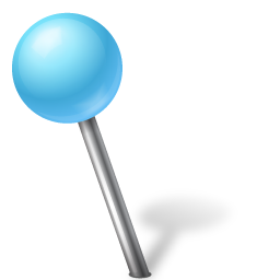 azure, ball, left, mapmarker icon