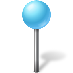 azure, ball, mapmarker icon
