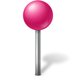 ball, mapmarker, pink icon