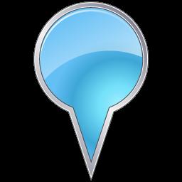 azure, bubble, mapmarker icon