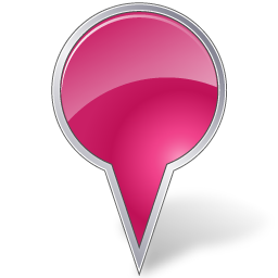 bubble, mapmarker, pink icon