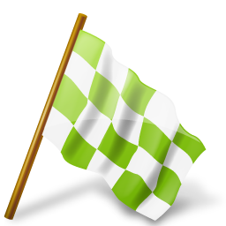 chartreuse, chequeredflag, mapmarker, right icon