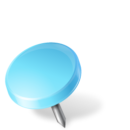 azure, drawingpin, left, mapmarker icon