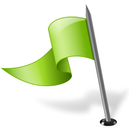 chartreuse, flag, left, mapmarker icon