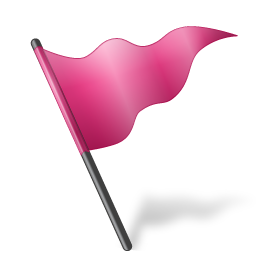 flag, mapmarker, pink icon