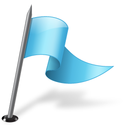 azure, flag, mapmarker, right icon