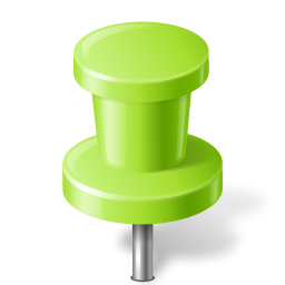 chartreuse, mapmarker, pushpin icon