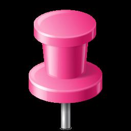 mapmarker, pink, pushpin icon