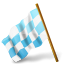azure, chequeredflag, left, mapmarker icon