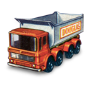 tipper, truck, wheel icon