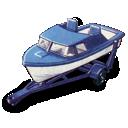 boat, trailer icon