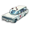 ambulance, cadillac, car icon