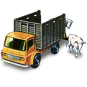 cattle, truck, with icon