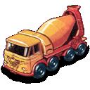 concrete, foden, truck icon