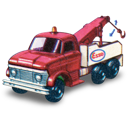 ford, heavey, movement, truck, with, wreck icon