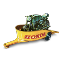 honda, motorcycle, trailer icon
