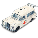 ambulance, benz, car, mercedes icon
