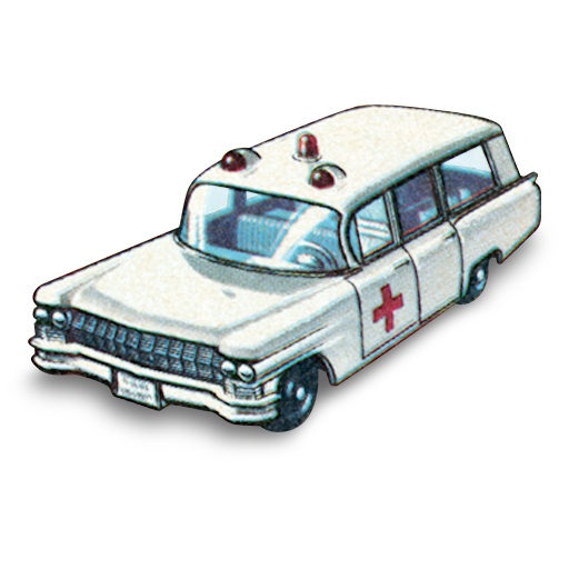 ambulance, cadillac, car icon