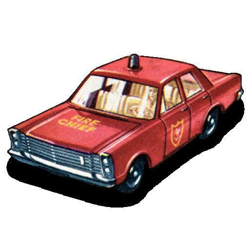 car, chief, fire icon