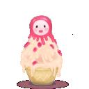 cream, matryoshka icon