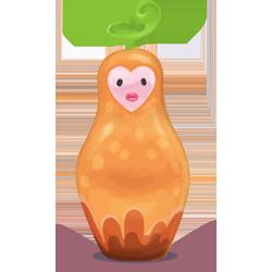 matryoshka, orange icon