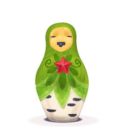 matryoshka, plant icon