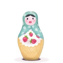 matryoshka, woman icon