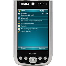cell phone, cellular phone, dell axim x51v, phone, smart phone icon