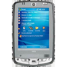 hp ipaq hx2495, smart phone icon