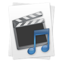 &, file, movie, music icon