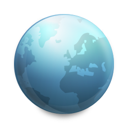 connected, globe icon