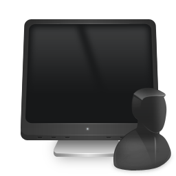 computer, user icon