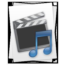 &, file, movie, music icon