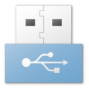blue, usb icon