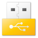 usb, yellow