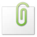attachment, green icon