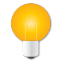 bulb, idea, light, yellow