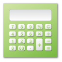 calculator, green