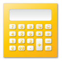 calculator, yellow