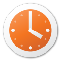 clock, red icon