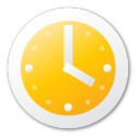 clock, yellow icon