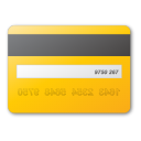 card, credit, yellow