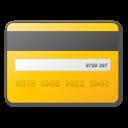 card, credit, yellow icon
