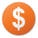 currency, dollar, funding, investment, red, round icon