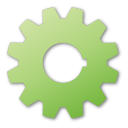 gear, green icon